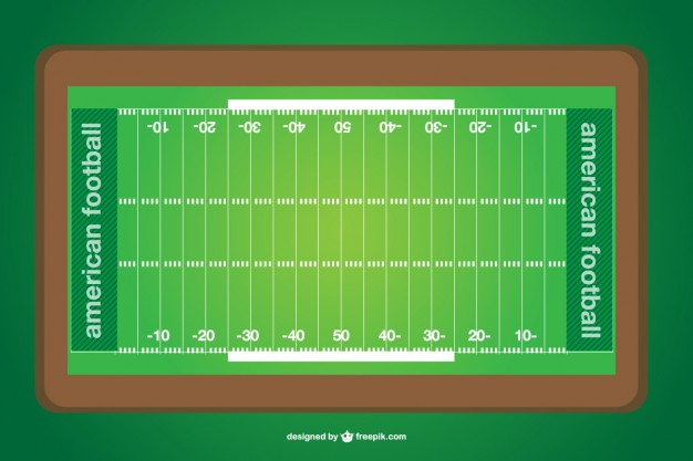 626x417 American Football Field Vector Free Download