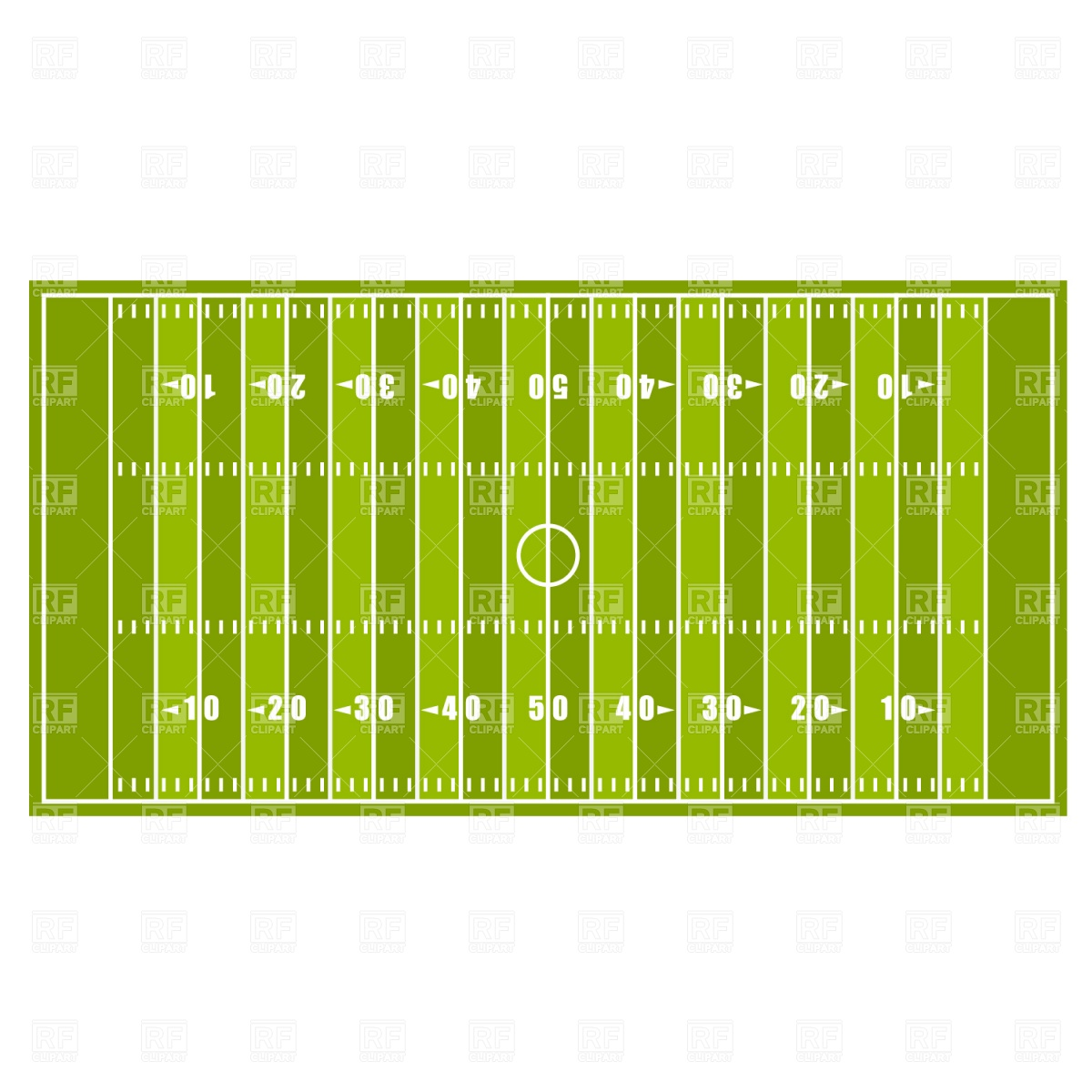 1200x1200 American Football Field Vector Image Vector Artwork Of Sport And