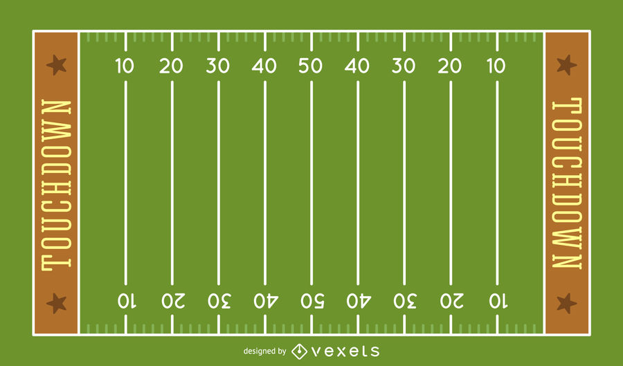 900x529 American Football Field Illustration