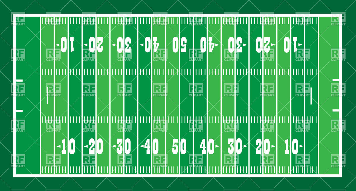 1200x646 American Football Field Layout Vector Image Vector Artwork Of