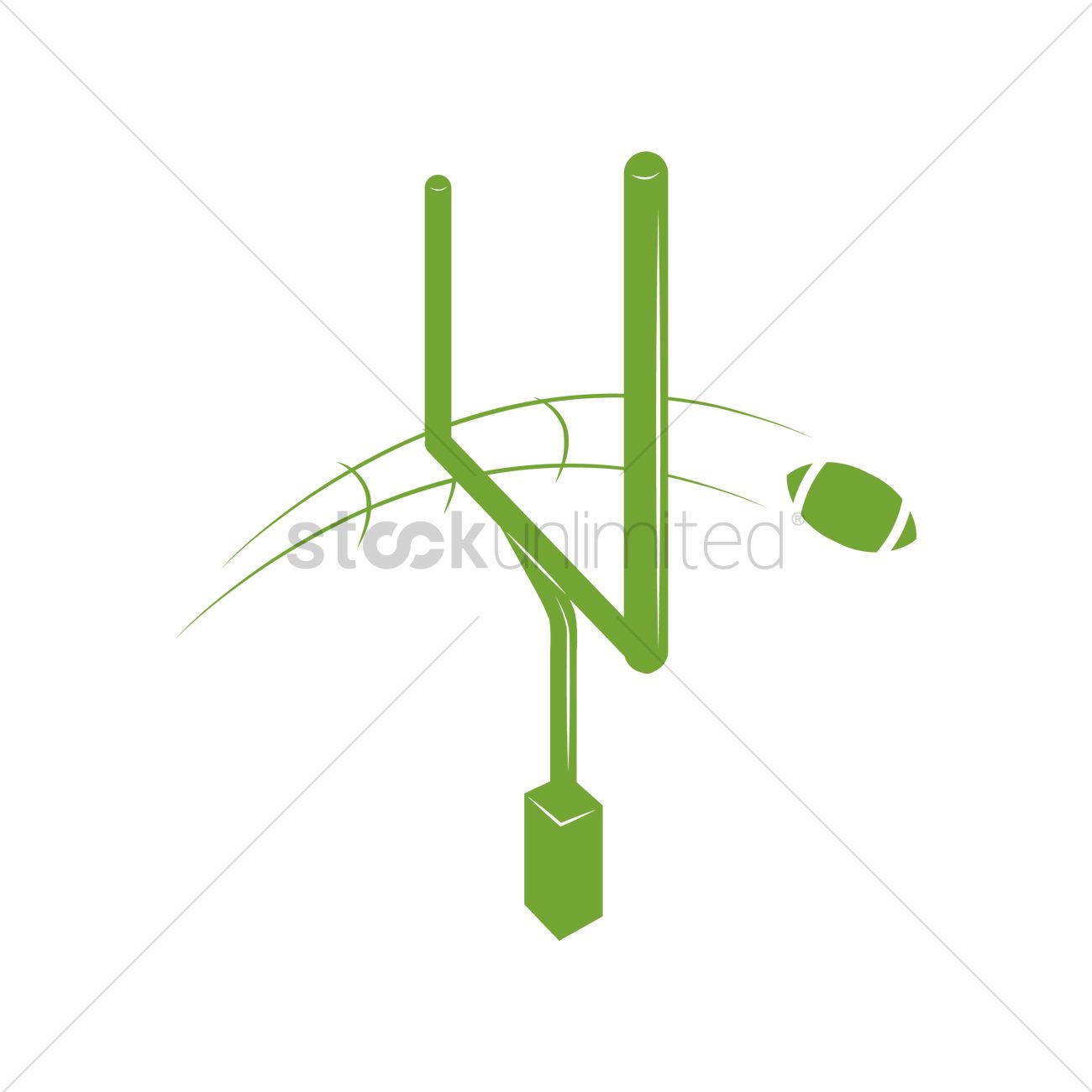 1300x1300 American Football Goal Post Vector Image