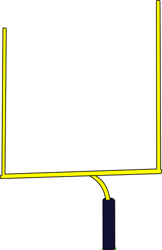 323x500 American Football Goal Post Vector Illustration Public Domain
