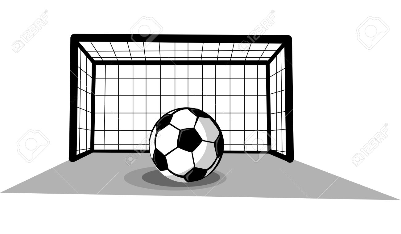 1300x759 Drawn Football Football Goal