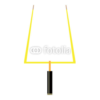 400x400 Isolated Football Goal Post On A White Background, Vector