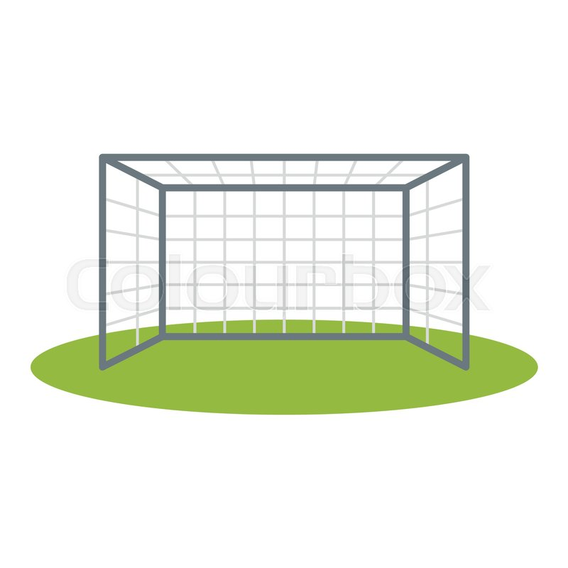 800x800 Soccer Goalpost Icon Vector Illustration For Design And Web
