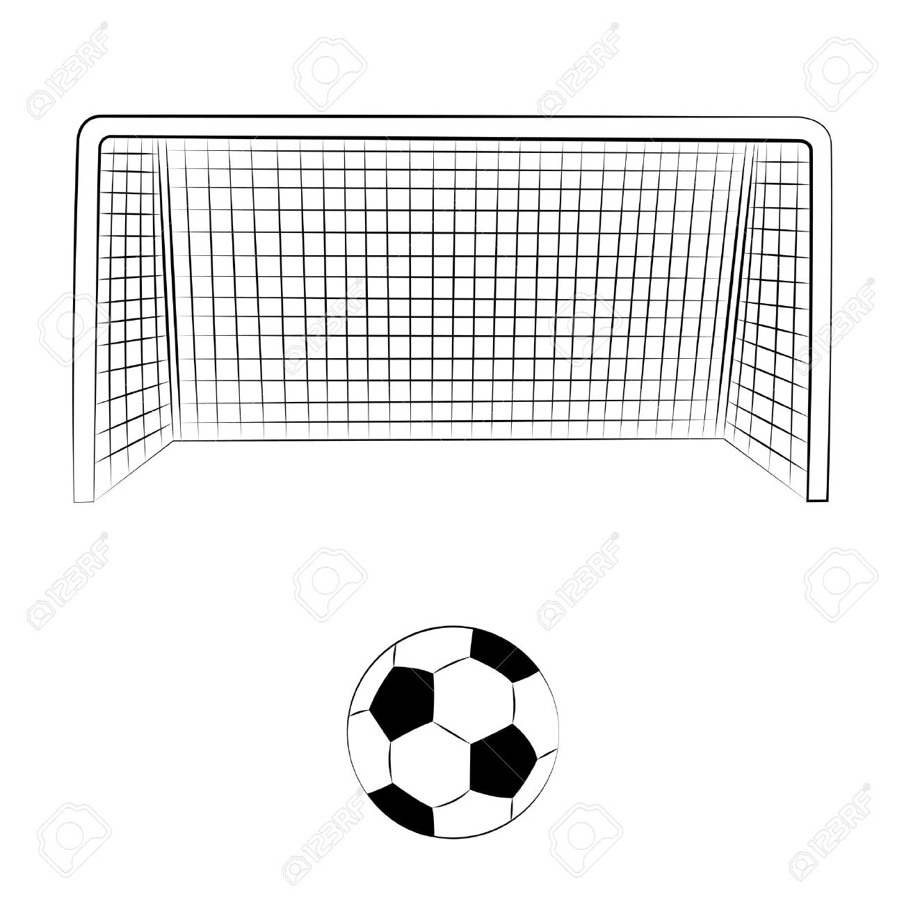 1300x1300 Collection Of Football Net Clipart High Quality, Free