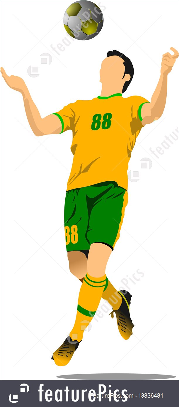 611x1392 Soccer Player Football Player Vector
