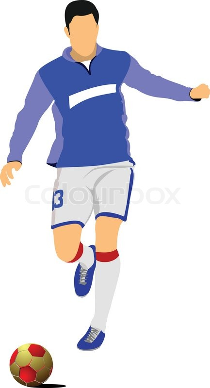 433x800 Soccer Player Football Player Vector Illustration Stock Vector