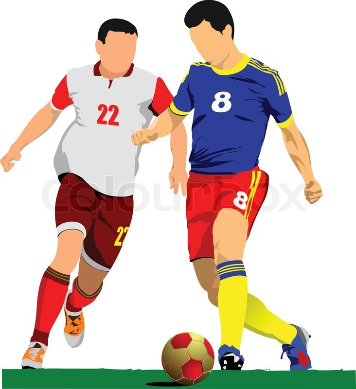 732x800 Soccer Player Poster. Football Player. Vector Illustration Stock