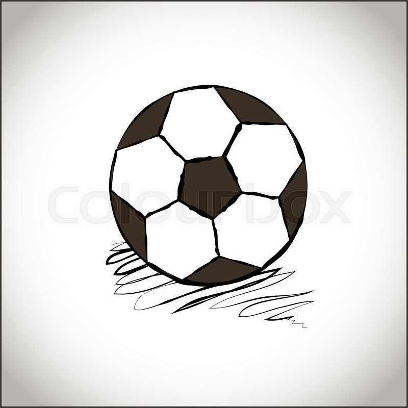 800x800 Graphic Soccer Ball. Hand Drawn Style Football Ball. A Soccer Ball