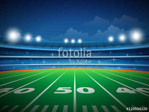 500x375 American Football Stadium With Crowd Stock Image And Royalty Free