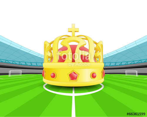 500x400 Champion Crown In The Midfield Of Football Stadium Vector Stock