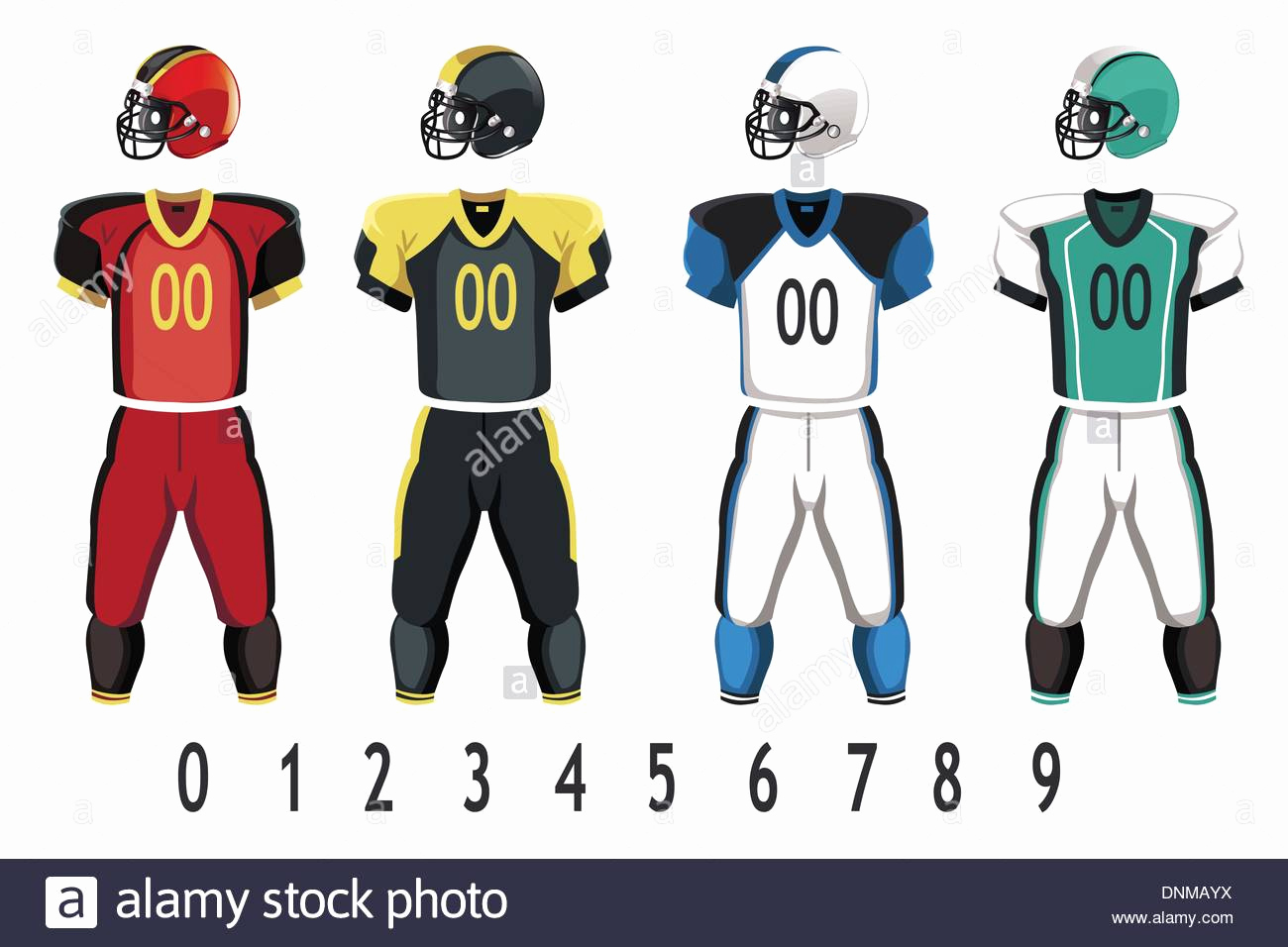 Football Uniform Template Vector