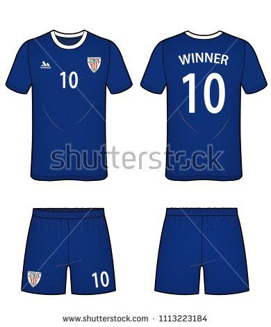 390x470 Football Soccer Uniform Design Team Jersey Vector Illustration