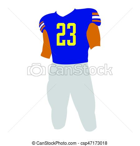 450x470 Isolated Football Uniform On A White Background, Vector... Vector