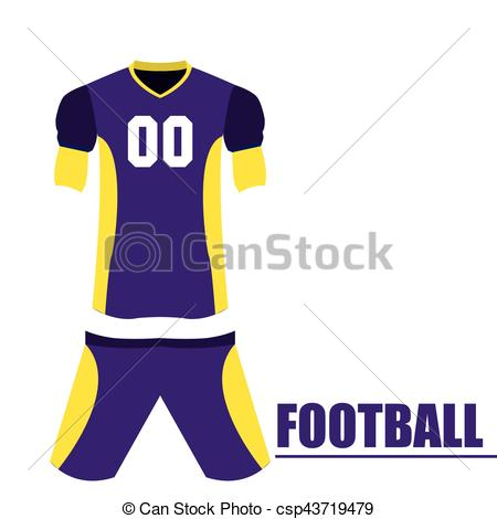 450x470 Isolated Football Uniform On A White Background, Vector... Vectors