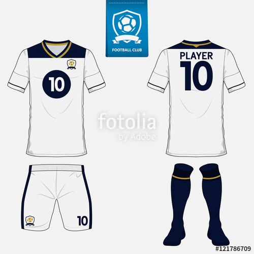500x500 Set Of Soccer Kit Or Football Jersey Template For Football Club