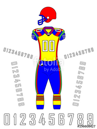 375x500 American Football Uniforms Template Stock Image And Royalty Free