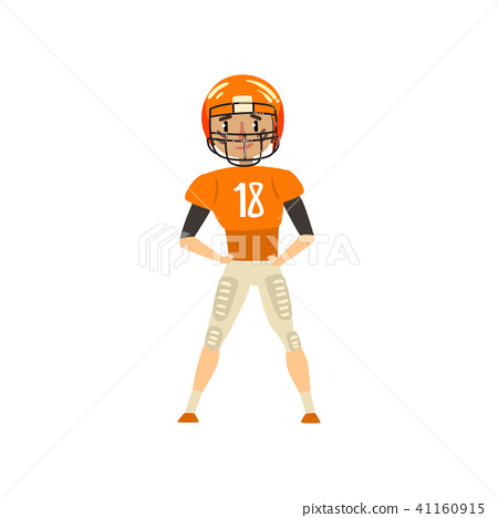 450x468 American Football Player Wearing Uniform Vector Illustration On A