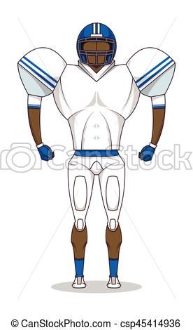 276x470 American Football Player With Equipment. Sport Concept Vector