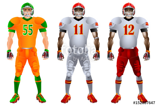 500x339 American Football Players Uniform, Vector Stock Image And Royalty