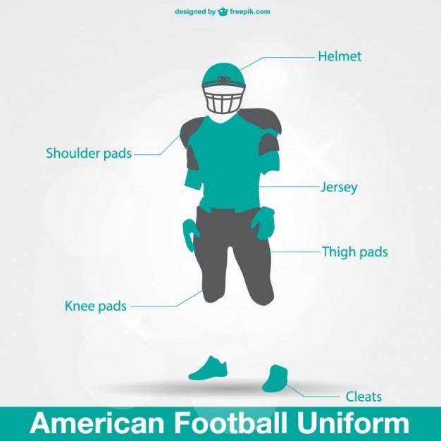 626x626 American Football Uniform Vector Free Download