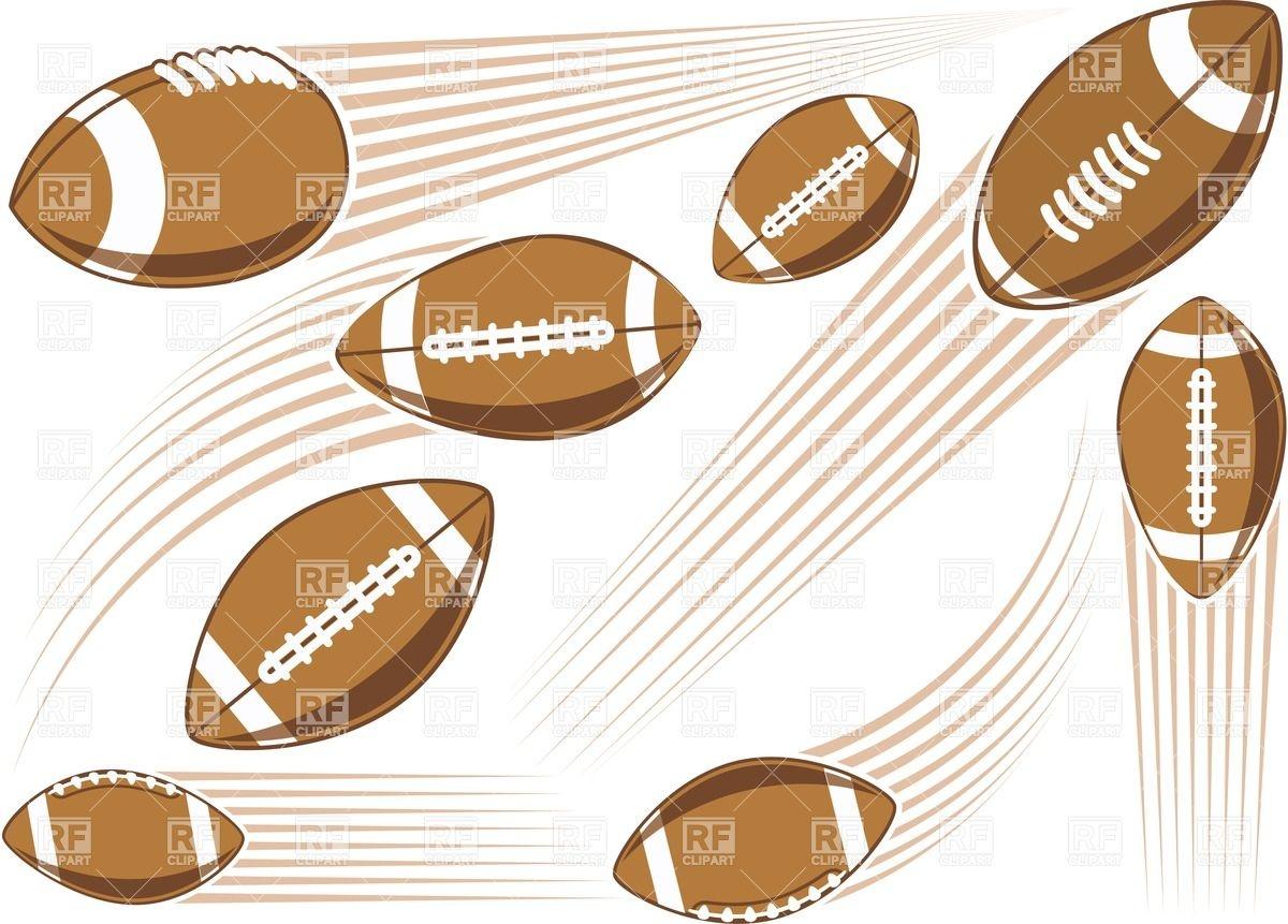 1200x861 Flying American Football Ball Vector Image Vector Artwork Of