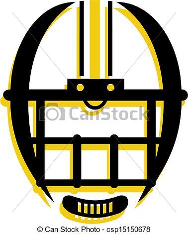 378x470 Graphic Outline Of Football Helmet.