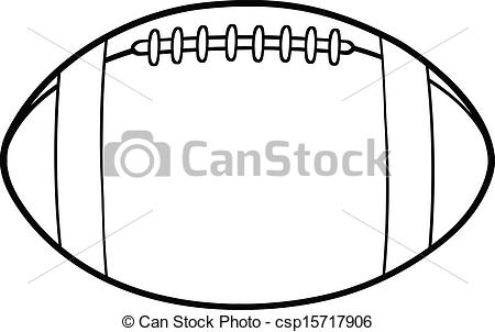 450x302 Outlined American Football Ball. Black And White American Football