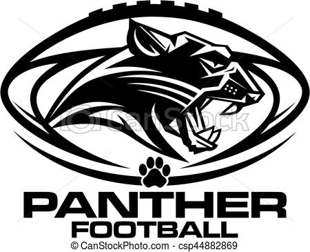 450x365 Panther Football Mascot Team Design For School, College Or League.