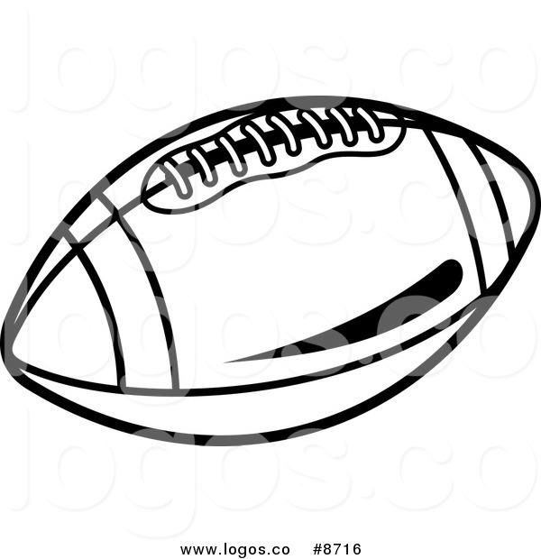 600x620 American Football Ball Vector Art