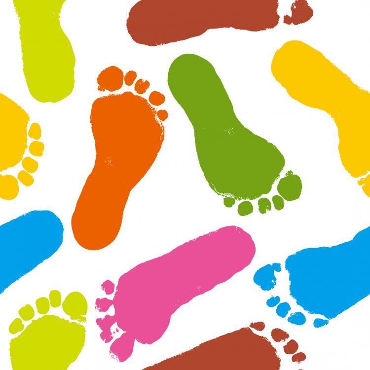 750x750 Lip Handprint Footprint Vector Free Vector 4vector