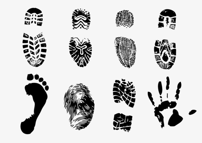 650x460 Footprints Vector, Handprint, Marking, Black Png And Vector For