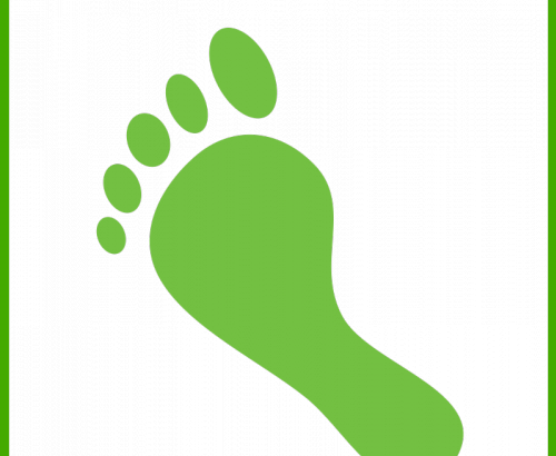 500x410 Eco Carbon Footprint Vector Icon Free Download Files