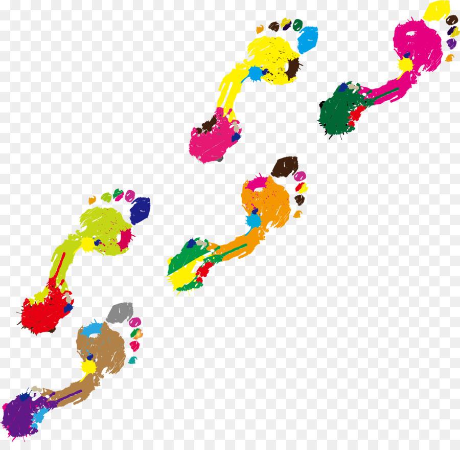 900x880 Footprint Color Clip Art