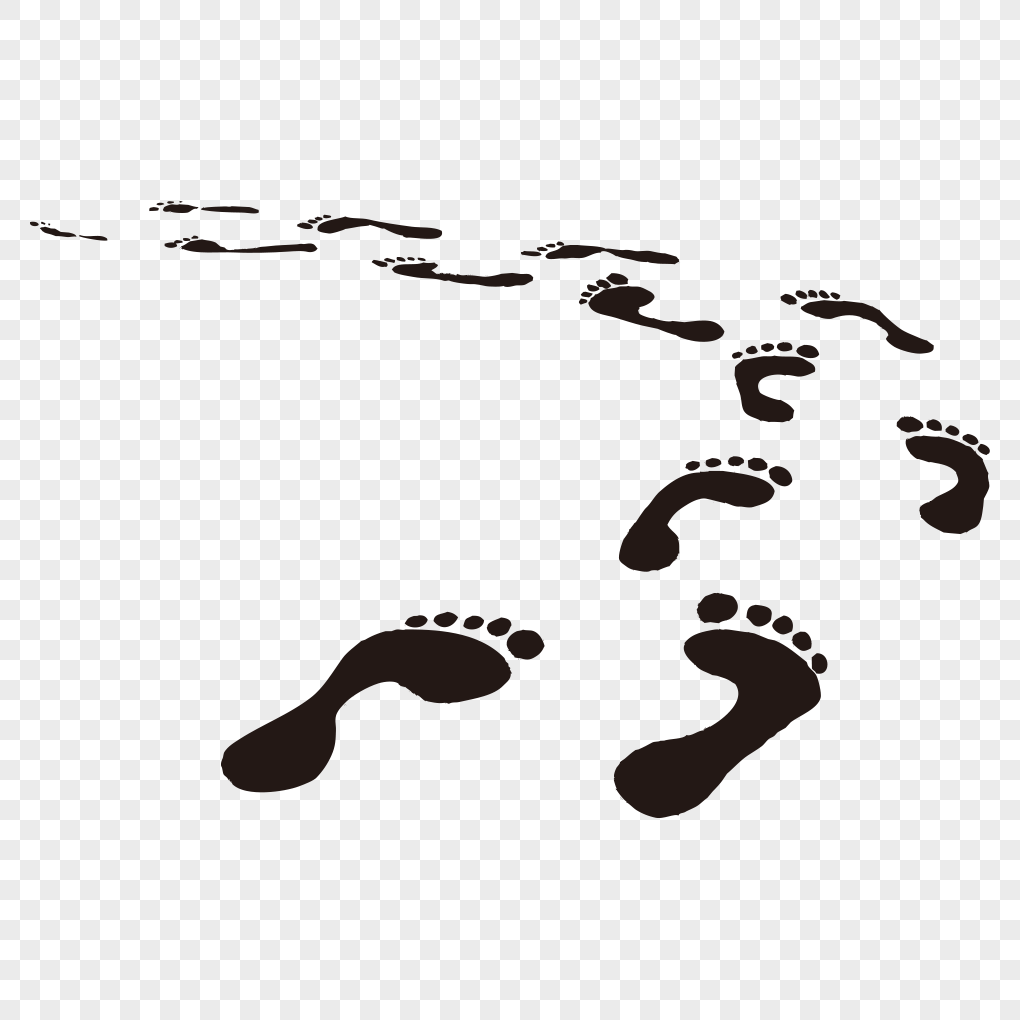 1020x1020 Footprints Of Creative Vector Png Image Picture Free Download
