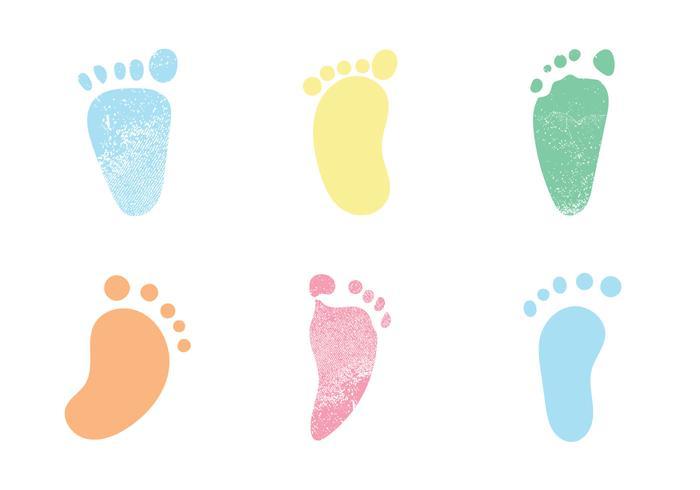700x490 Free Baby Footprints Vector Illustrations