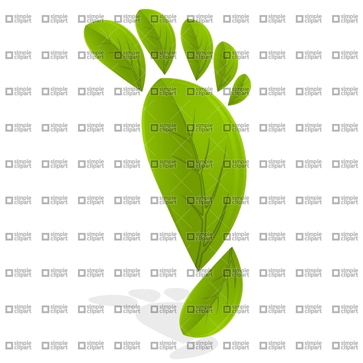 1200x1200 Leaf Footprint Vector Image