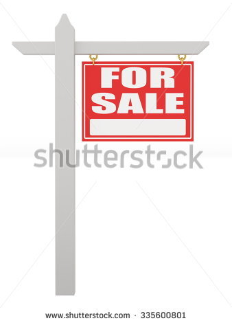 338x470 For Sale Sign Group With Items