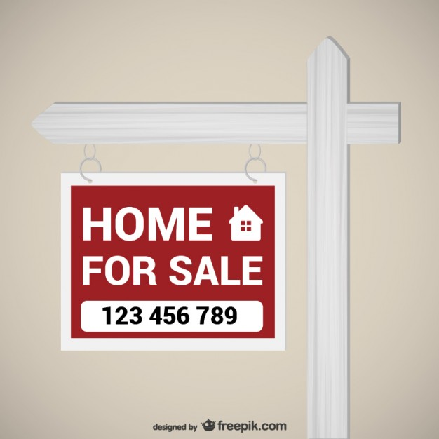 626x626 Home For Sale Sign Vector Free Download