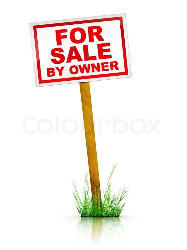 600x800 Real Estate Sign For Sale By Owner. 2d Artwork. Computer Design