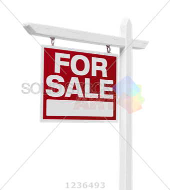 340x381 Stock Photo Of Vector White And Red Hanging For Sale Sign On