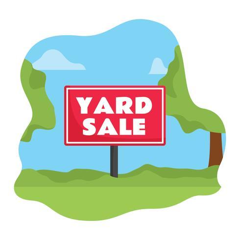 490x490 Yard Sale Sign Vector