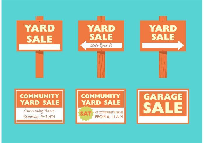700x490 Yard Sale Signs