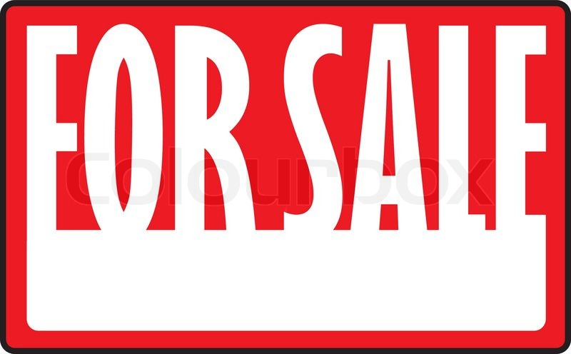 800x496 A For Sale Sign With Copy Space In Vector Format Stock Vector