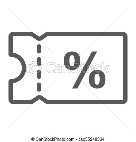 450x470 Discount Coupon Line Icon, E Commerce And Marketing, Sale Sign