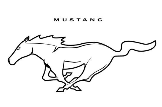 550x365 Ford Mustang Logo Outline Shot On Cars