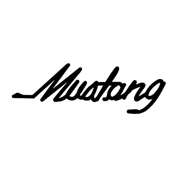 600x600 Mustang Logo Vector Group With Items
