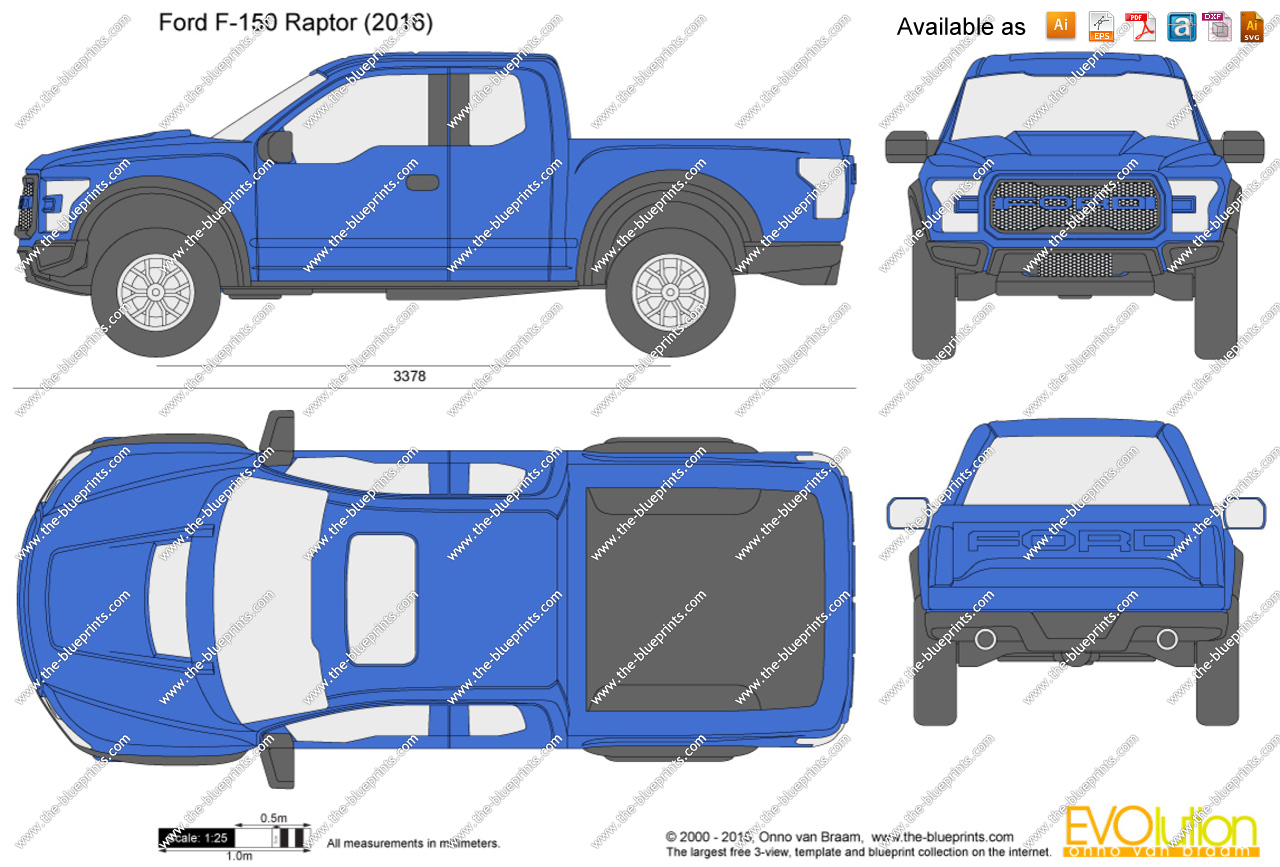 1280x867 Ford F 150 Raptor Vector Drawing