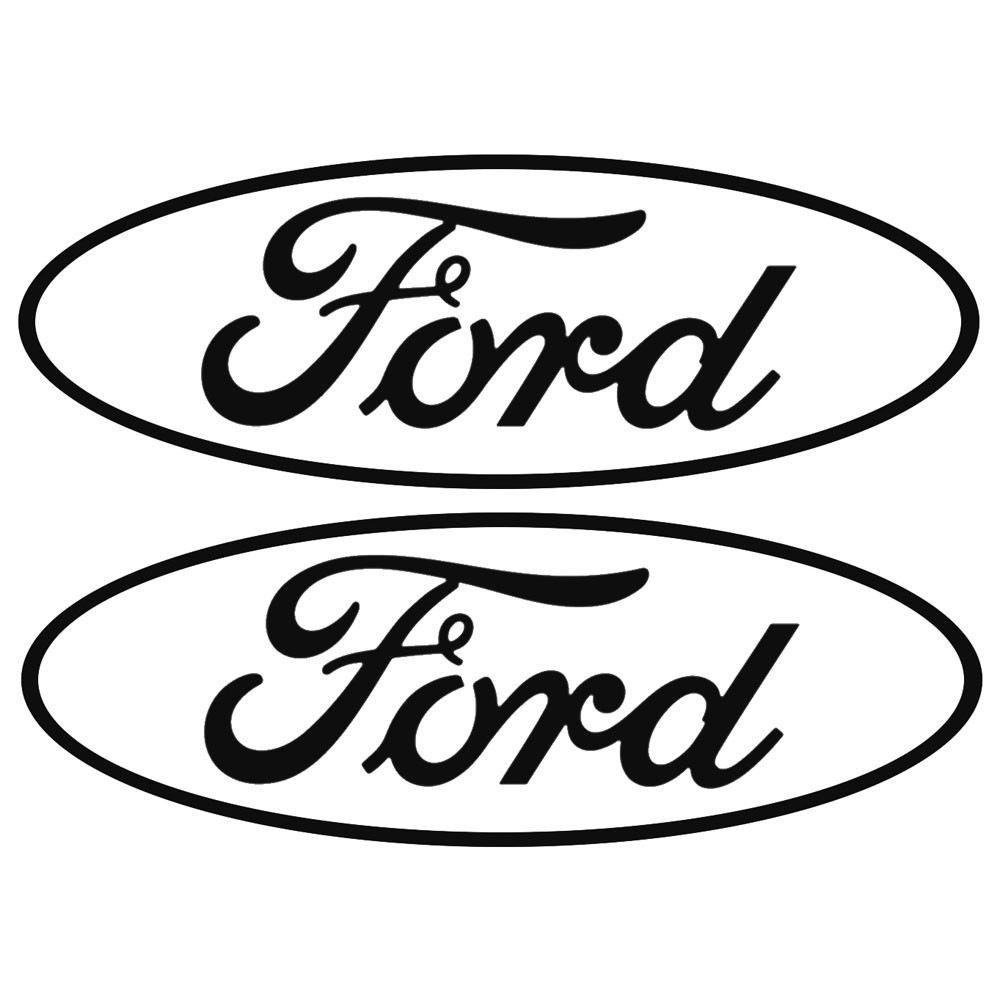 1000x1000 Graphic Express Decal Ford Oval Logo Open Style 3 X 7 14 Pair